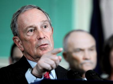 Michael Bloomberg speaks at a City Hall press conference on Hurricane Irene on Aug. 25, 2011. The city is bracing for what could be its first direct hit by a hurricane in decades.