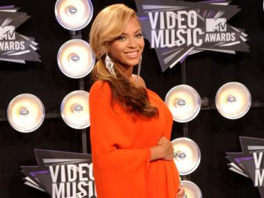 Singer Beyonce arrives at the 2011 MTV Video Music Awards at Nokia Theatre L.A. LIVE on August 28, 2011 in Los Angeles, Calif.