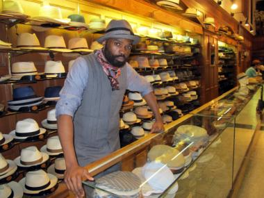 Marc Williamson, 41, has been working at J.J. Hat Center for 20 years.