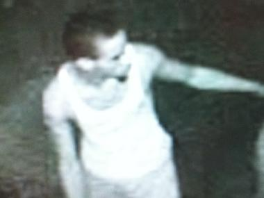 Cops say the man in this surveillance image is William Green, 30, of Brooklyn, who allegedly scuffled with cops in front of 114 Christopher St. on July 24, 2011 after he was questioned for public urination.