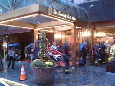 A fire broke out inside the Kimberly Hotel at 145 E. 50th St. on Mon., Sept. 7, 2011, the FDNY said.