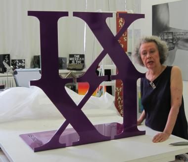 Ultra Violet's three-foot-tall sculpture of her design will be unveiled in Queens on Friday.