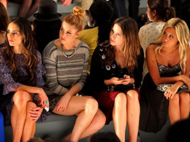 Jordana Brewster, Whitney Port, Sophia Bush and Ashley Tisdale attend the Rebecca Taylor Spring 2012 fashion show.