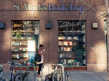 The St. Mark's Bookshop on Third Avenue and Stuyvesant Street.
