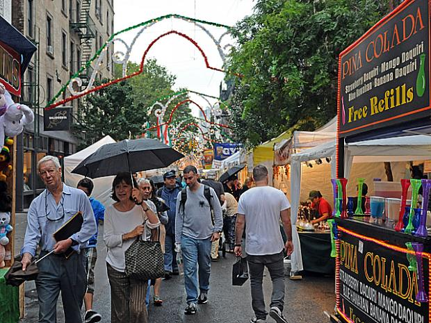 The San Gennaro festival started on a rainy day Thurs., Sept. 15, 2011.