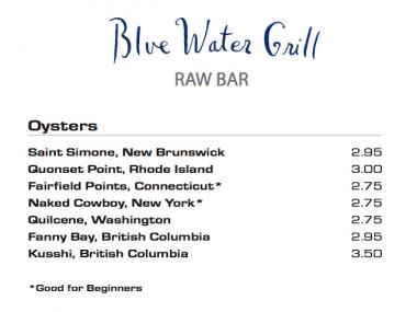 Naked Cowboy Oysters are featured on the menus of Manhattan's top seafood restaurants, including the Blue Water Grill in Union Square.