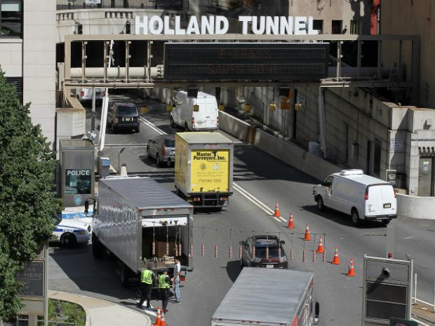 Gov. Andrew Cuomo ordered the closure of the Holland Tunnel and the Brooklyn-Battery Tunnel on Oct. 29, 2012, ahead of Hurricane Sandy's arrival.