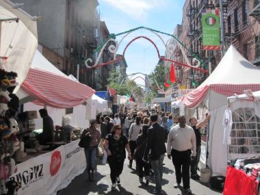The San Gennaro festival stretches along Mulberry Street between Prince and Canal streets.