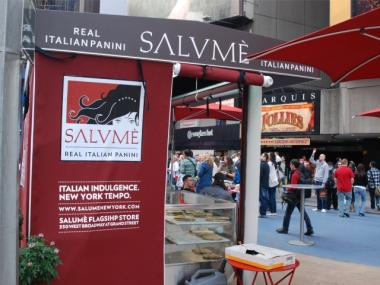 The new Salume kiosk in Times Square