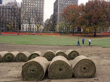 Central Park is set to end a year of renovations to the East Meadow.