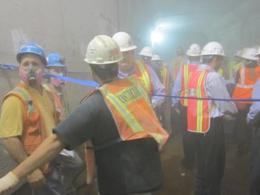 A federal safety watchdog found high levels of silica at the Second Ave. subway construction site.