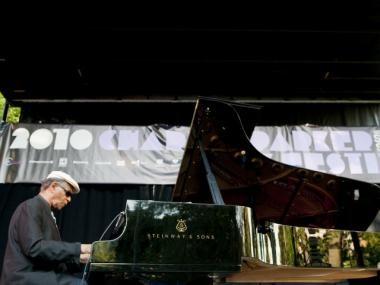 Jazz legend McCoy Tyner performing in the 2010 Charlie Parker Jazz