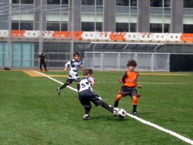 Downtown Soccer League played on the new Battery Park City ball fields Sept. 25, 2011.