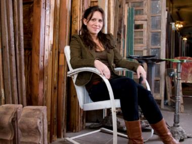 A new book by Amy Hughes, 36, details 22 do-it-yourself home salvage projects.