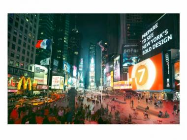 A rendering of the Times Square of the future.