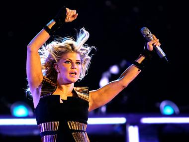 Fergie performs on the Great lawn in Central Park on Sept. 30th, 2011.