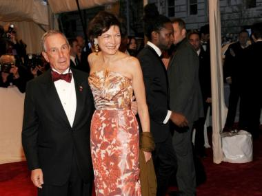 New York City Mayor Michael Bloomberg and Diana Taylor attend the 'Alexander McQueen: Savage Beauty' Costume Institute Gala at The Metropolitan Museum of Art on May 2, 2011 in New York City.