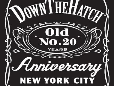 Down the Hatch is selling 20th anniversary shirts and will serve half-price pints and $8 domestic pitchers on Wednesday, Oct. 5, 2011.