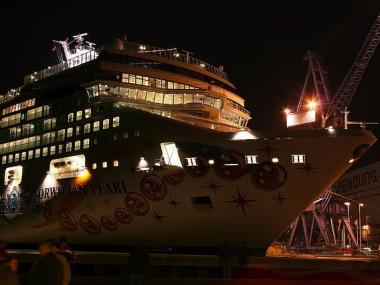 The new ship will replace the Norwegian Pearl, seen here under construction in Germany in 2006.