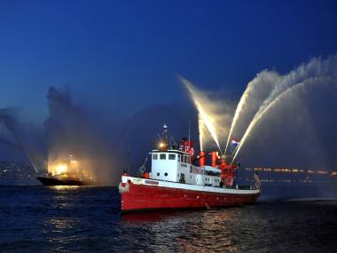 Fireboat 343, the city's newest fireboat, will make an appearance at the boat parade on Tues., Oct. 11, 2011.