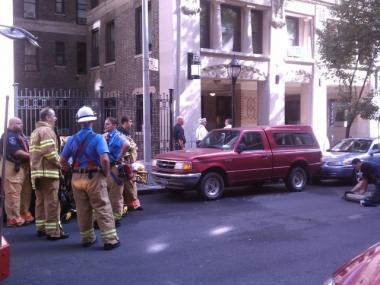 Fire crews at the scene of a fire at 924 West End Ave. on Mon., Oct. 10, 2011.
