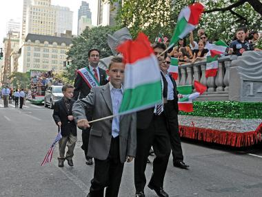 The Columbus Day Parade was full of Italian flags on Fifth Avenue on Oct. 10.