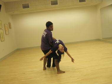 Yitzhak Franco and Emma Kantor, both 16, dance at the National Dance Institute's new Harlem studios.