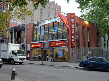 The McDonald's on West 3rd Street, near Sixth Avenue