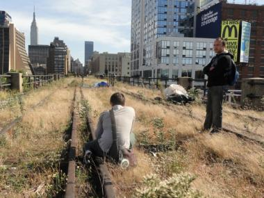 New Yorkers were given a tour of the still-closed future section of the High Line park as part of Open House New York on Oct. 16, 2011.