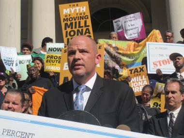 United Federation of Teachers President Michael Mulgrew said New York is the state with the largest income disparity.
