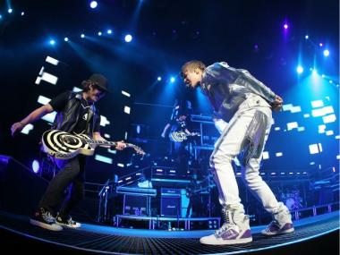 Singer Justin Bieber performs on stage at Acer Arena on April 28, 2011 in Sydney, Australia.