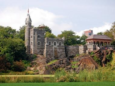 A man fell from Central Park's famed Belvedere Castle onto an embankment of rocks next to Turtle Pond on Mon., Oct. 24, 2011, FDNY officials said.