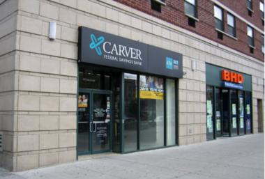 Carver Federal Savings Bank was pulled from the brink by a $55 million investment from a group of Wall Street firms and the U.S. government.