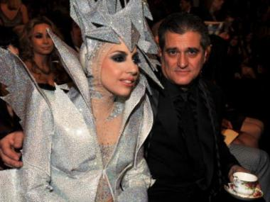 Lady Gaga and her father, Joe Germanotta, at the 52nd Annual Grammy Awards in January 2010.