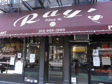 Ray's Pizza, a NoLIta institution, closed Sunday, Oct. 30, 2011 after a legal dispute.