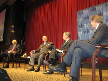 Mayors Michael Bloomberg, David Dinkins and Ed Koch discussed their successes and failures Tuesday morning at the Association for a Better New York's 40th Anniversary breakfast.