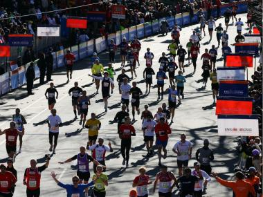 About 45,000 runners are expected to compete in the New York City marathon on Sunday.