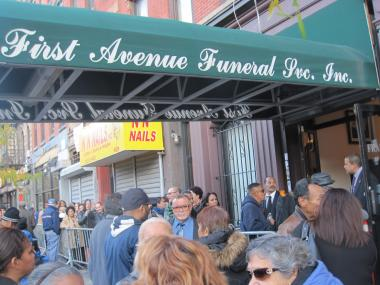 Hundreds of mourners gathered at First Avenue Funeral Service on Tuesday Nov. 1 to say farewell to murdered great-grandmother Julia Hernandez, 73.