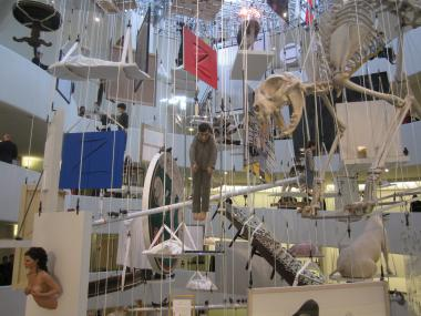 Guggenheim curator Nancy Spector likened the Maurizio Cattelan show to a hanging at the gallows.