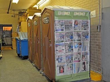 Portable toilets were installed near Occupy Wall Street Nov. 4, 2011.