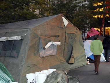 Occupy Wall Street set up a women s safety tent on Nov. 4 after at least 1d2c342a5