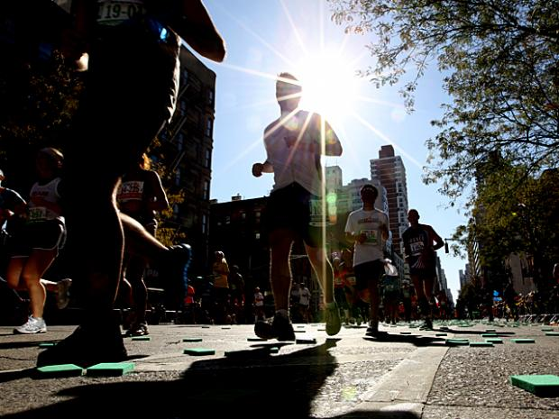 Crowds lined the streets on Nov. 6, 2011 to watch the New York City Marathon.