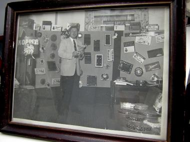 A family photo from the 1940s or 1950s shows former Koppers owner Harold Alexander, now deceased, at a trade show.