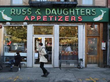 Russ & Daughters on the Lower East Side.