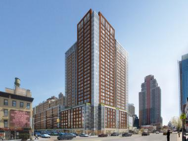 The new project on West 45th Street will offer one-bedrooms for as little as $533 a month.