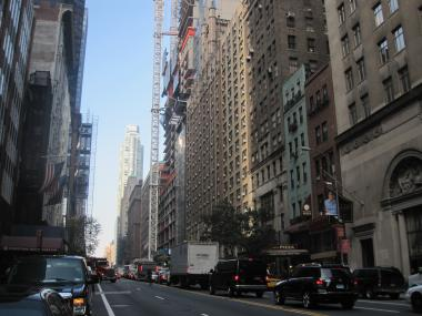 The Department of Transportation is planning to create a new mid-block crossing on West 57th Street.