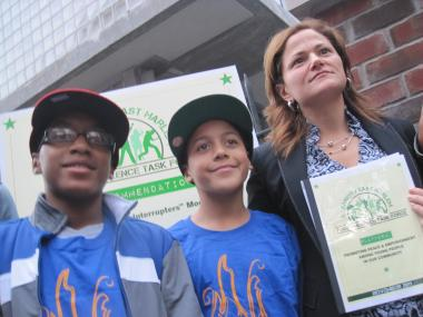 East Harlem Councilwoman Melissa-Mark Viverito unveiled recomendations from the El Barrio/East Harlem Youth Violence Task Force Thursday.