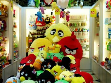"""Angry Birds"" plush toys. Three people in Flushing were accused of selling fake merchandise last week."