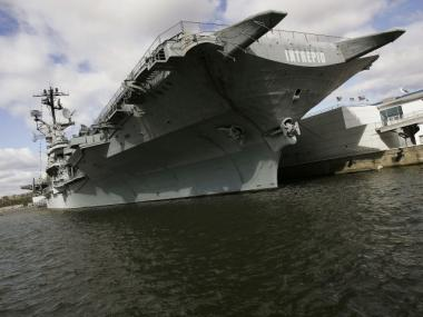 A woman was injured at the USS Intrepid on April 27, 2012.