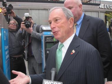 Mayor Michael Bloomberg called for tougher gun regulations moments before the shooting.